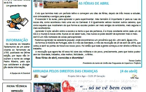 "Jornal: ""A Chaminé"" 2º Período de 2018/19"
